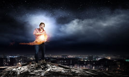 Supernormal man Royalty Free Stock Image
