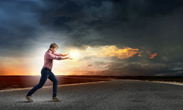 Supernormal man Royalty Free Stock Photography