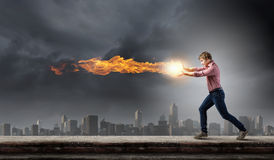 Supernormal man Royalty Free Stock Photo