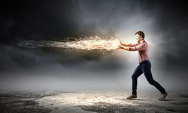 Supernormal man Royalty Free Stock Photos