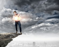 Supernormal man Royalty Free Stock Images