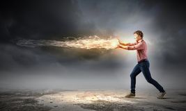 Supernormal man Stock Photos