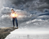Supernormal man Stock Photography