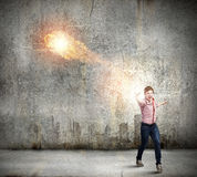 Supernormal man Stock Image