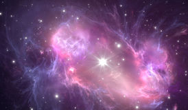 Supernova explosion with nebula in the background Royalty Free Stock Photography