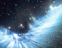 Supernova explosion in the nebula Stock Photo