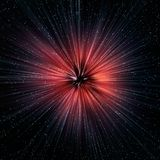 Supernova explosion in Space royalty free illustration