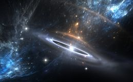 Supernova Explosion. For use with projects on science, astronomy, universe and education Royalty Free Stock Images