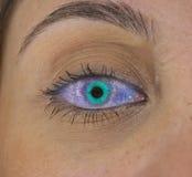 Supernova eye. Supernova explodes in girls eye Stock Images