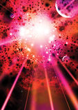 Supernova-Hintergrund Stockbild