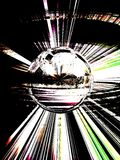 Supernova inspiration 2 of 5. The sphere is part from series Supernova (5 of  5 Stock Image