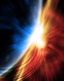 Supernova nahe Planeten Stockfotografie