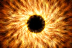 Supernova in space generated by computer. Black hole in universe Royalty Free Stock Photography