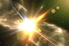 Supernova or star explosion. Illustration Stock Photography