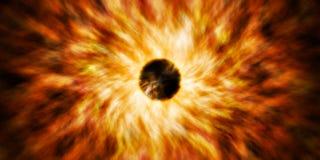 Supernowa głębokiej przestrzeni wybuchu gwiazda fotografia stock