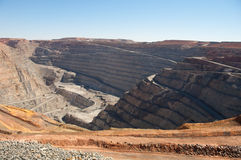 Superpit in Kalgoorlie Stockbilder