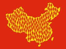Superpopulação em China Imagens de Stock Royalty Free