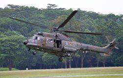 RSAF Super Puma helicopter Stock Photography
