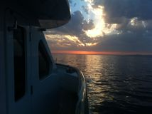 Superreiche Sonnenuntergangansicht Stockfotografie