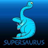 Supersaurus cute character dinosaurs Royalty Free Stock Photo