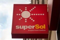 SuperSol logo on superSol market stock images