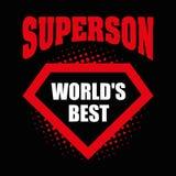 Superson商标超级英雄World& x27; 最佳的s 库存照片