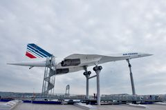 Supersonic aircraft Concorde stock images