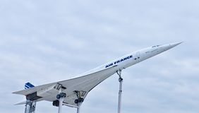 Supersonic aircraft Concorde Royalty Free Stock Photos