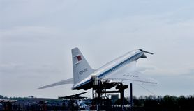 Supersonic aircraft Tupolev TU-144 Royalty Free Stock Images