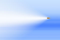 Supersonic flying bullet background Royalty Free Stock Images