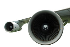 Supersonic Jet Engines. Isolated image of supersonic jet engine turbines Stock Images