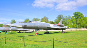 The supersonic long-range bomber Tu-22 to the Air Force Museum in Monino. Moscow Region, Russia Royalty Free Stock Photos