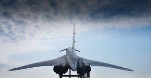 supersonic tu-tupolev för 144 flygplan Arkivbild