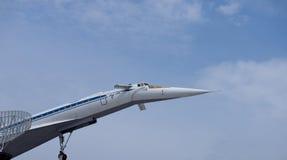 supersonic tu-tupolev för 144 flygplan royaltyfri foto