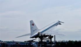 supersonic tu-tupolev för 144 flygplan Royaltyfria Bilder