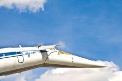 Supersonisk flygplanTupolev TU-144 royaltyfri bild