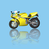 Supersport amarelo Foto de Stock