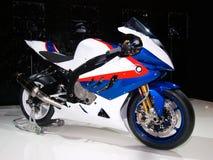 Supersport bike against a dark background. Royalty Free Stock Photos
