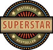 Superstar. Abstract label with the word Superstar Royalty Free Stock Photos