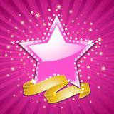 Superstar background Royalty Free Stock Photos