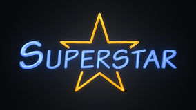 Superstar. Background of a pop star superstar neon sign Stock Images