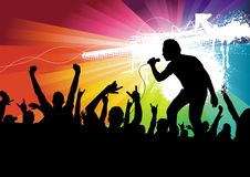 Superstar Crowd Royalty Free Stock Images