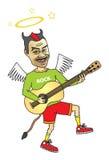 Superstar de musique rock d'amusement Photos libres de droits