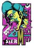 Superstar de zombi illustration libre de droits