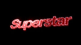 Superstar Glitz Text Royalty Free Stock Images