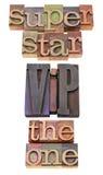 Superstar, VIP et celui Images libres de droits