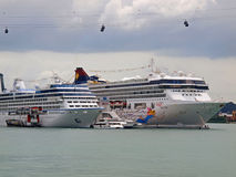 Superstar Virgo !. Cruise Ship- Superstar Virgo docked at Singapore Cruise Centre at Harbourfront Royalty Free Stock Photo