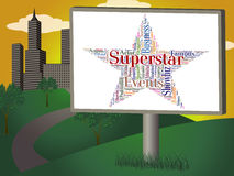 Superstar Word Means Hot Shot And Hero Stock Images