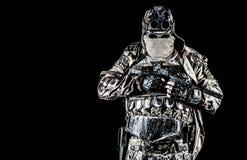 Superstite apocalittico della posta con la pistola fatta a mano Immagini Stock Libere da Diritti