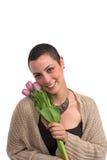 Superstite del cancro della mammella Fotografie Stock